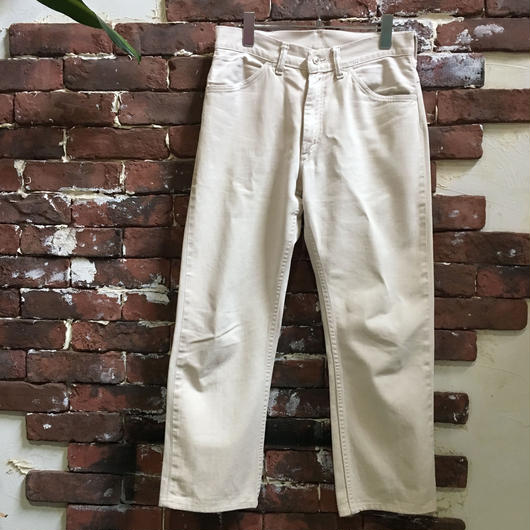 60-70's BRAND UNKNOWN COTTON TWILL PANTS