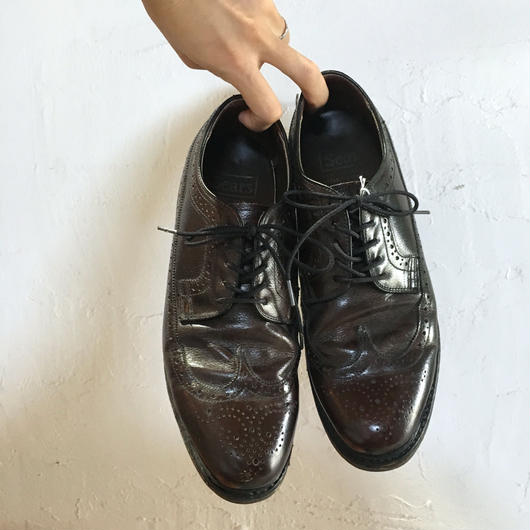 60-70S SEARS LEATHER WING TIP SHOES