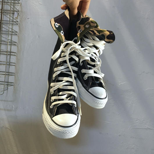 CONVERSE ALL STAR KNEE HI L-83 BLACK/CAMO DEAD STOCK