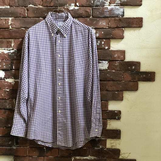 BROOKS BROTHERS GINGHAM CHECK B/D SHIRT