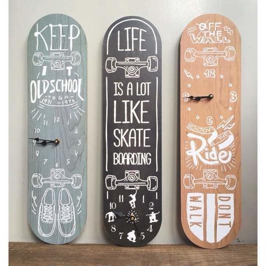 【掛時計】スケートボード ヴィンテージ クロック