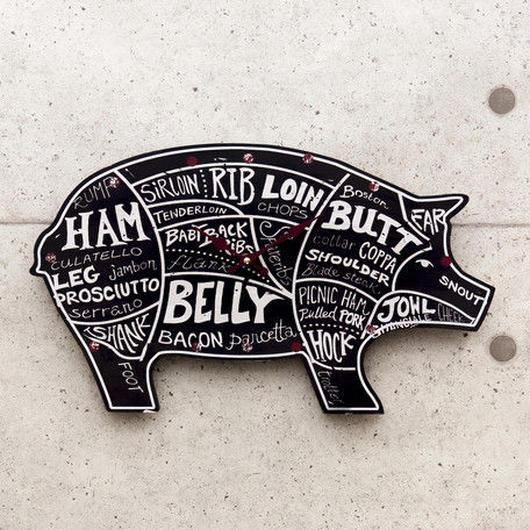 【壁掛時計】アンティーク レジェクション クロック [Pork]
