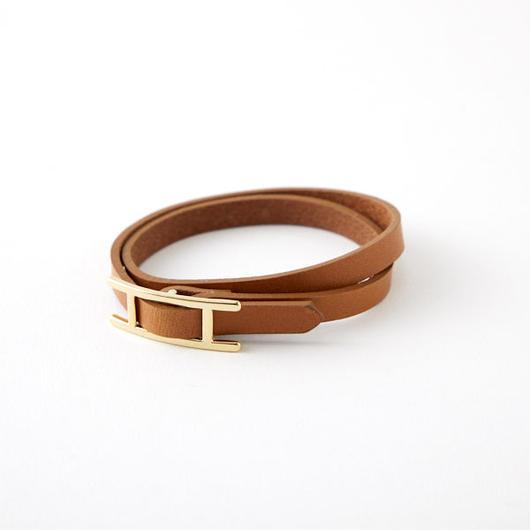 Leather  Bracelet /camel