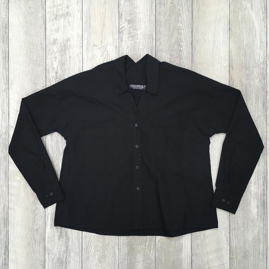 #パンツに合う刺繍入りボリュームシャツ 品番:1137606 カラー:ミッドナイト