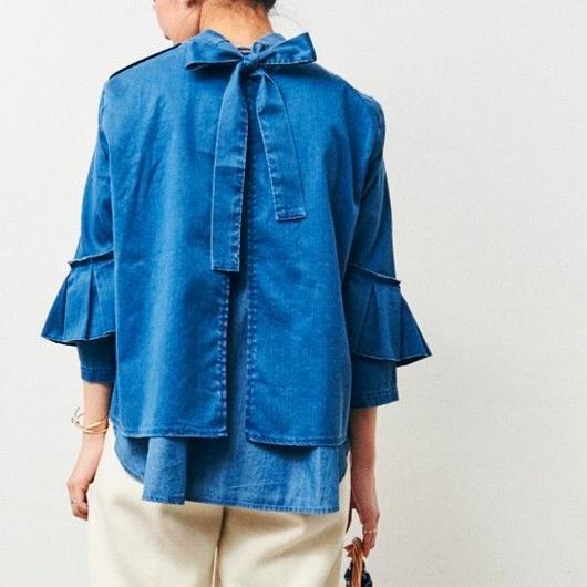 #パンツスタイルが上品にきまるボウブラウス 品番:1117604 カラー:サニー