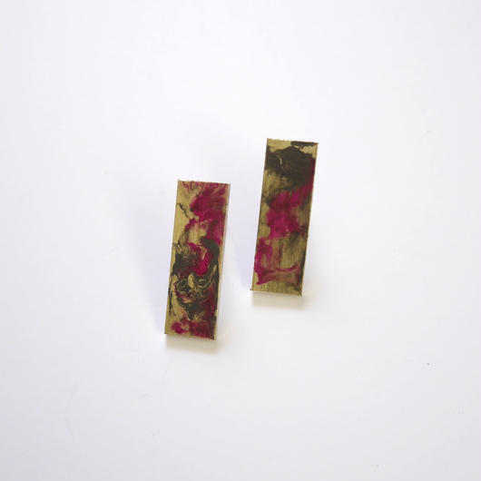 marble ナガシカク pierce/earrings PINK
