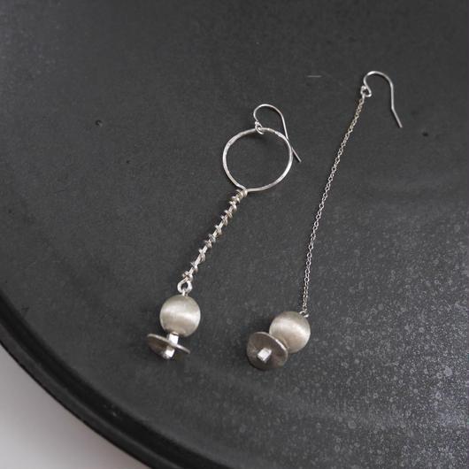 karen silver screw pierce/earrings