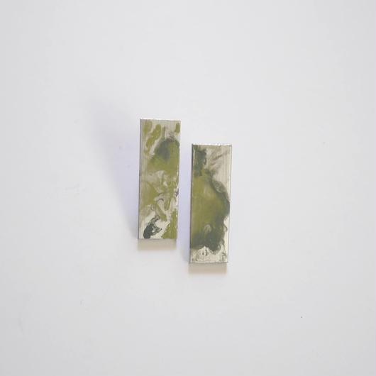marble ナガシカク pierce/earrings MINT