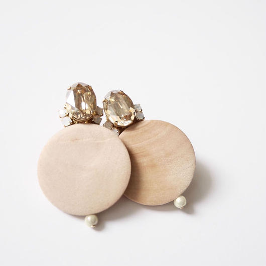 circle bijou pierce/earrings BEIGE