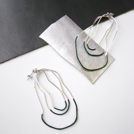 cell wire pierce/earrings GREEN TEA