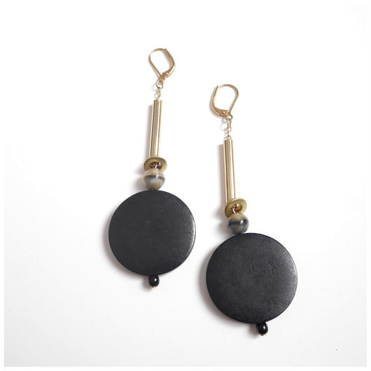 振り子pierce/earrings BLACK