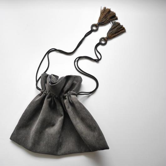 kinchaku  bag GRAY