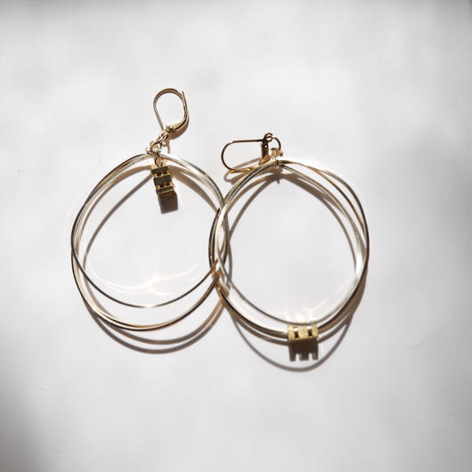 3line foop pierce/earrings GOLD
