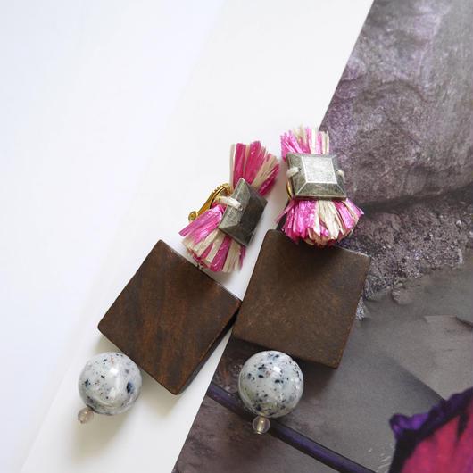 carnival pierce/earrings  PINK