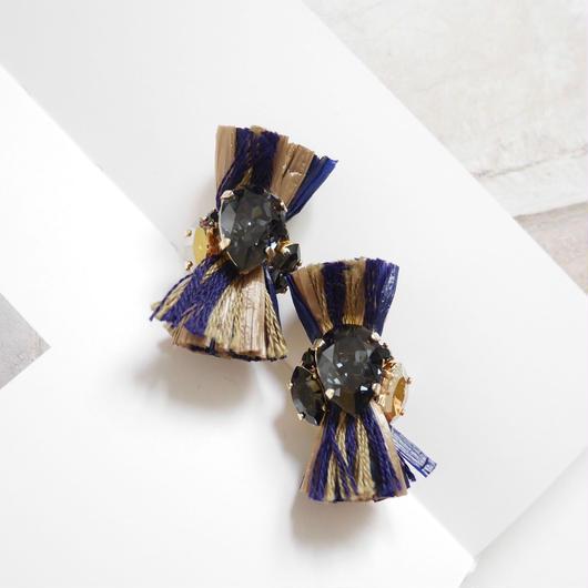 thread pierce/earrings NABY×BEIGE