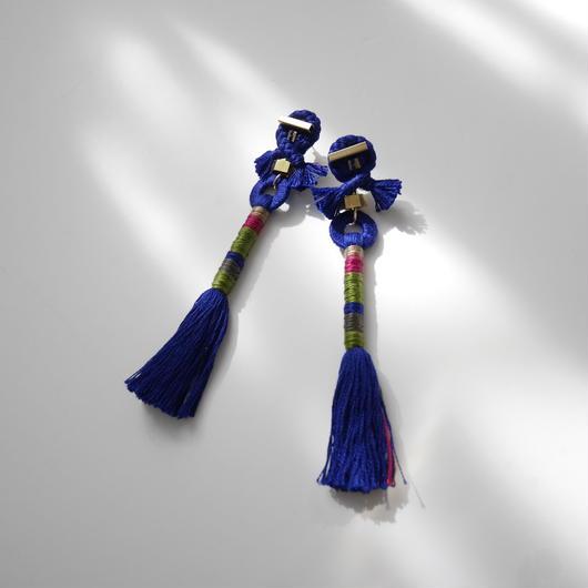 straight yarn pierce BLUE