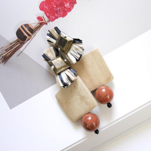 carnival pierce/earrings ORANGE