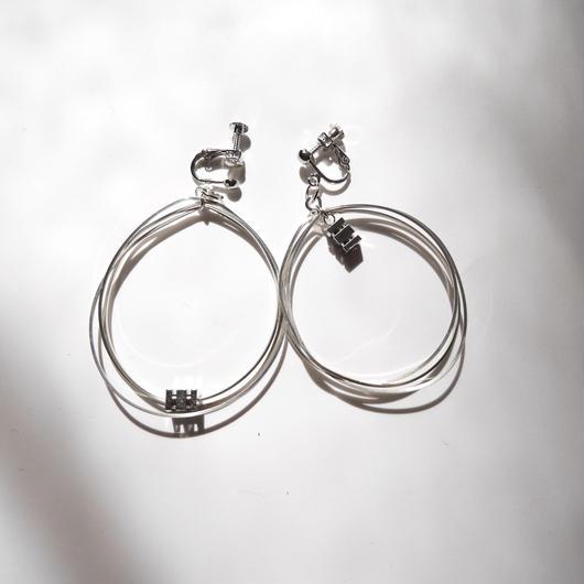 3line foop pierce/earrings SILVER