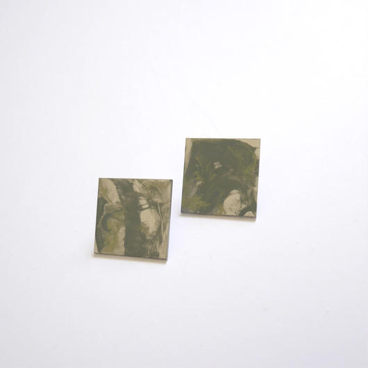 marble シカク pierce/earrings MINT
