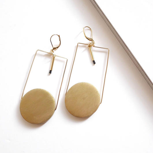 circle square pierce/earrings GOLD