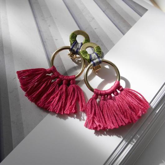 fringe clip PINK
