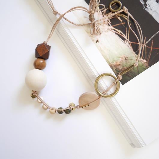 ensemble necklace BEIGE