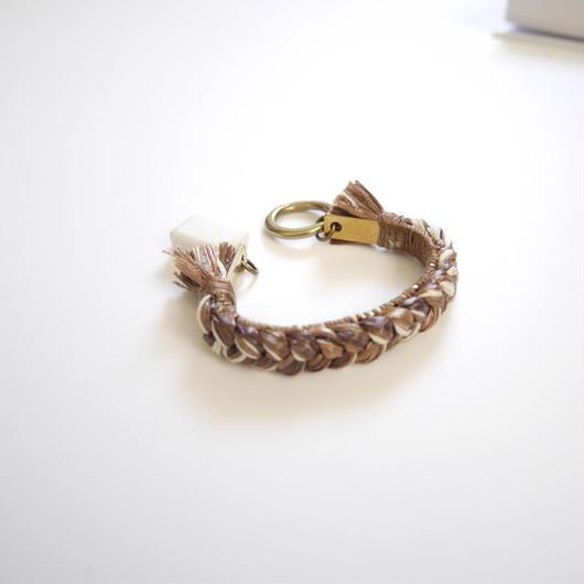 brass thread bangle BROWN