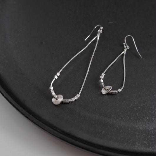 karen silver drop pierce/earrings