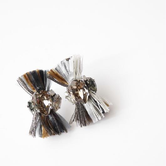 pulp thread  pierce/earrings GRAY MIX