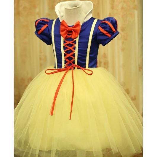 キッズコスチューム クリスマス ハロウィン:110cm ドレス3点セット 白雪姫