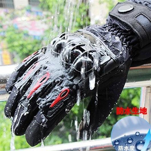 プロテクター付き バイク グローブ 防寒 防水 スマホ対応