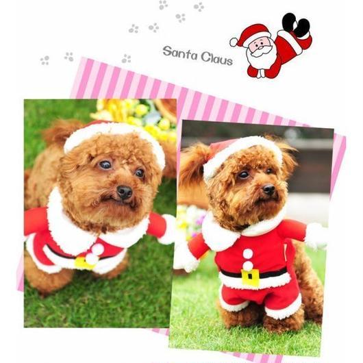 サンタ コスプレ 犬 猫 用 コスチューム サンタクロース