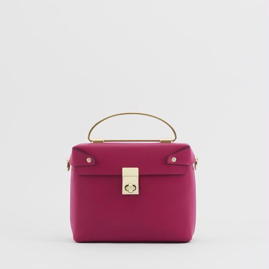 MORE10月号掲載  tov   SQUARE BOX BAG ピンク(#4-6-9702)