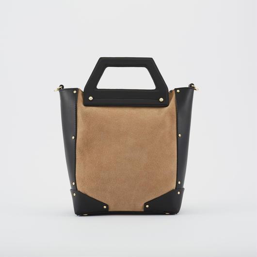 tov   SUEDE COMBI BAG S ブラック(#4-6-9710)