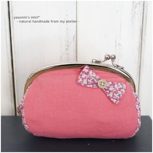 ひねり口金のポーチ - pink -