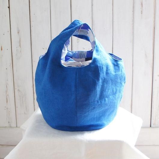 丸いバッグ  (青色)