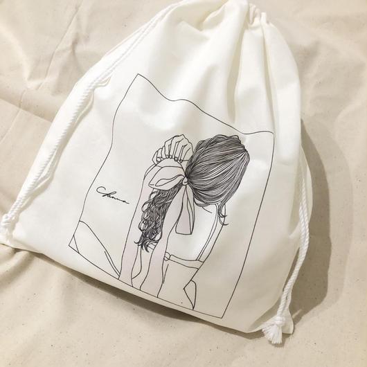 『ぼくは、きっと…』drawstring bag