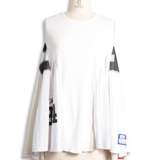 [18 S/S 予約商品] FLARE NO-SLEEVE T(REMAKE)