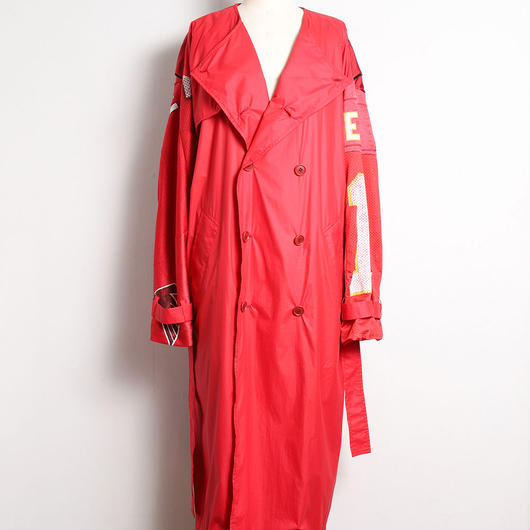 [18 S/S 予約商品] NO-COLLAR NYLON TORENCH COAT