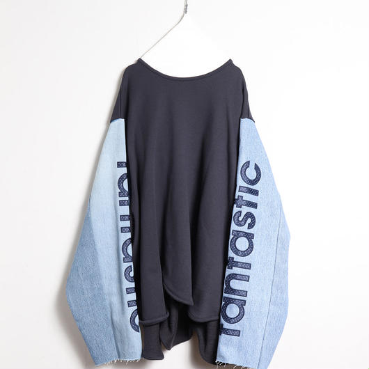 [18 S/S 予約商品] DENIM SLEEVE SWEATSHIRT (fantastic)