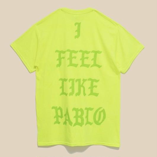「I FEEL LIKE PABLO SAFETY GREEN T SHIRT」-LAS VEGAS- / (送料込み)