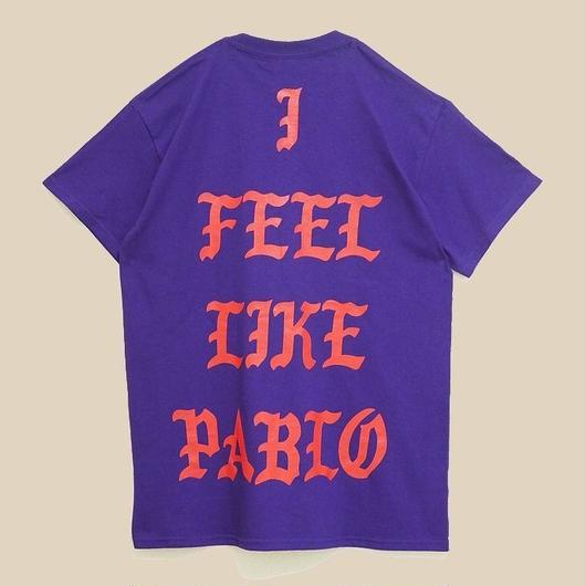 「I FEEL LIKE PABLO PURPLE T SHIRT」-LOS ANGELES- / (送料込み)