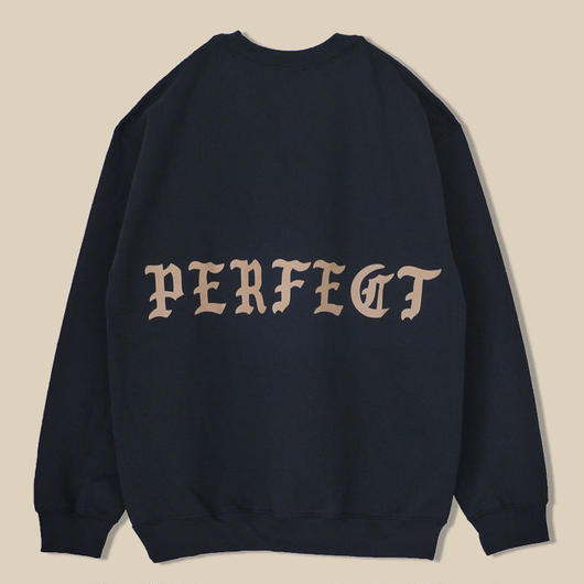 「PERFECT BLACK CREWNECK」NEW YORK / BLACK (送料込み)