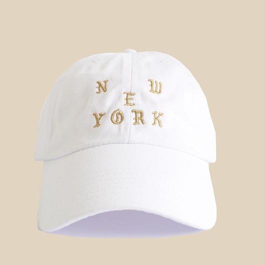 「NEW YORK WHITE HAT」 / WHITE(送料込み)