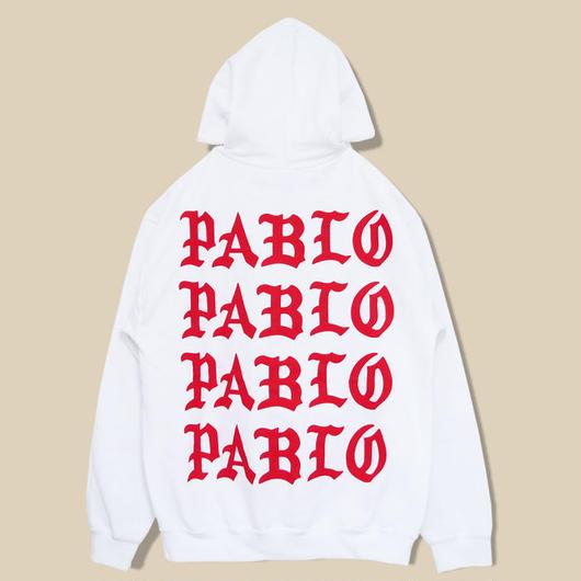 「PABLO PARIS」PULLOVER HOODIE / WHITE(送料込み)