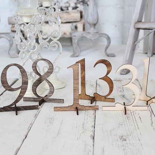 木製 Table Numbers 《送料込》