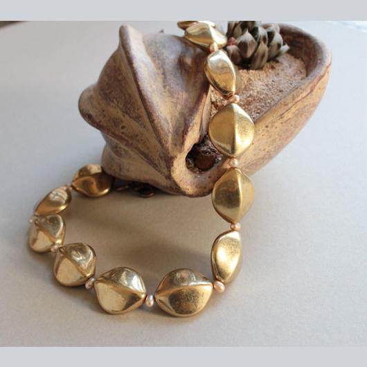 シードタイプ ピンク|Seed Necklace P 48cm