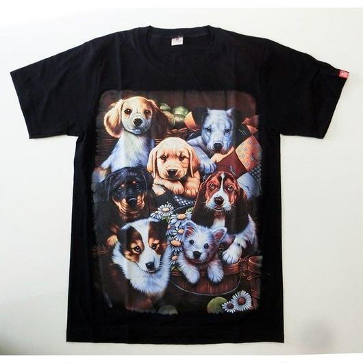 ワンちゃん集合Tシャツ