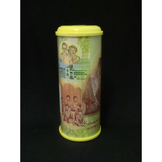 プミポン国王結婚50年記念紙幣柄貯金箱 裏側デザイン