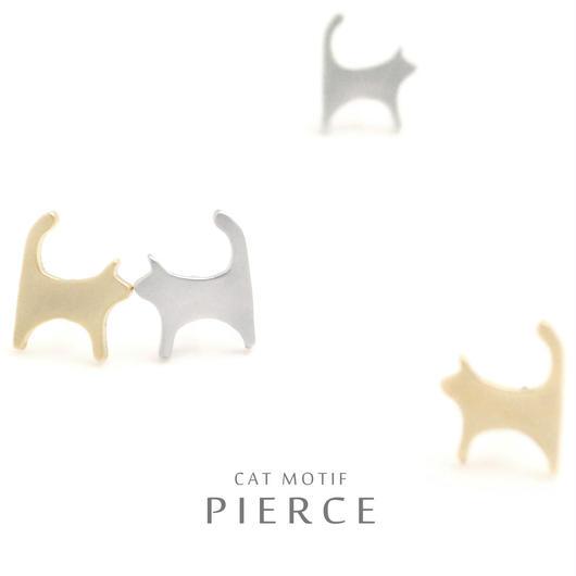 【キュートな猫アクセ】愛らしいシルエットで耳元の存在感も◎ おさんぽネコピアス
